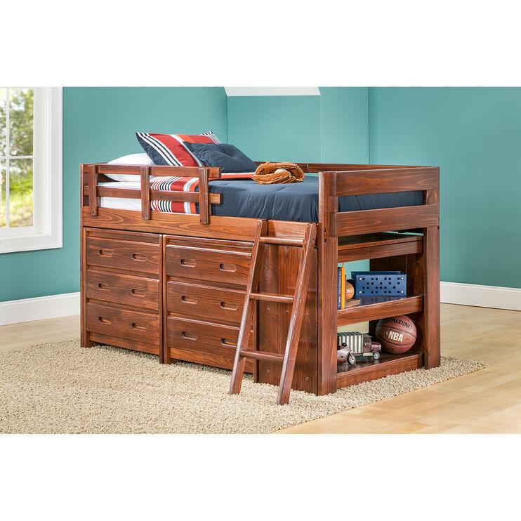Ashville Chocolate Drawer Loft Bed