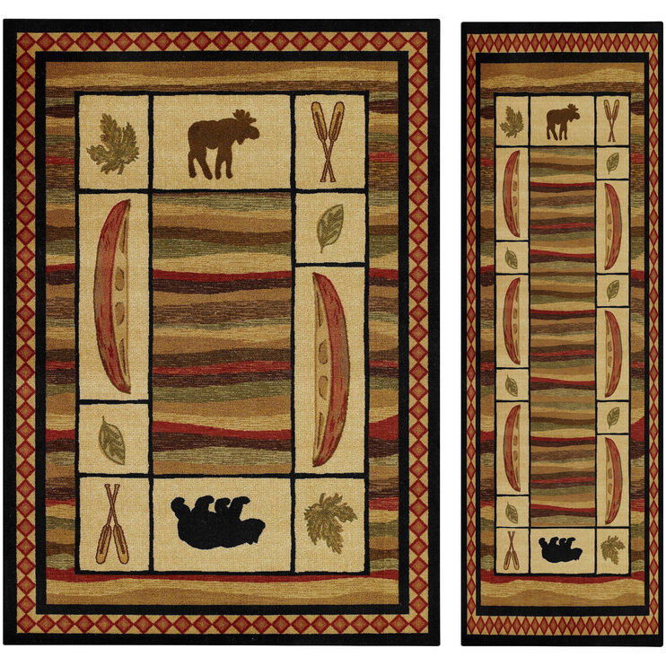 Northwoods 4 x 6 Rug and FREE Runner