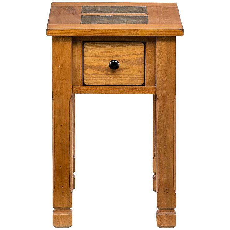 Rustic Ridge Oak Chairside Table