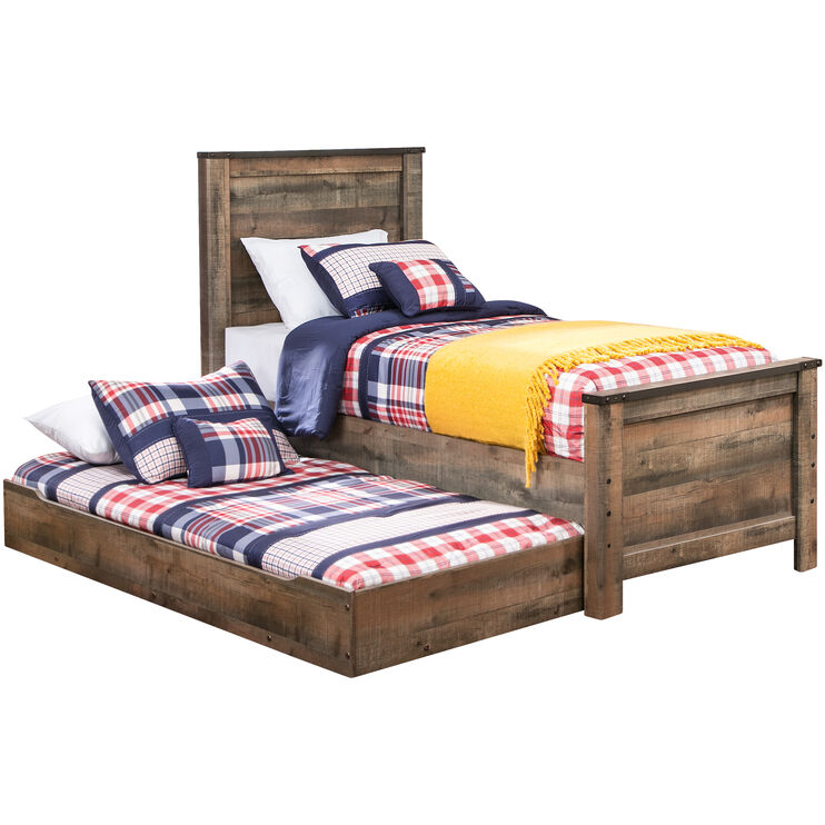 Trinell Panel Bed w/Trundle