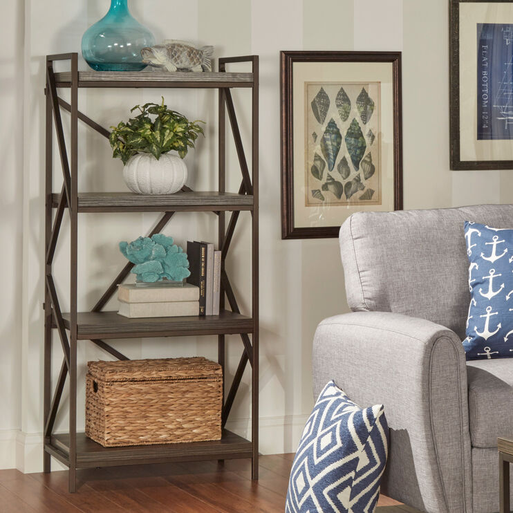 Vaughan Gray Bookcase