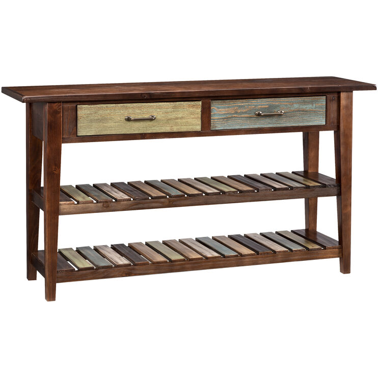 Mestler Brown Sofa Table