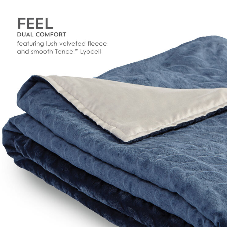 Zensory Midnight Blue Weighted Blanket Duvet Cover