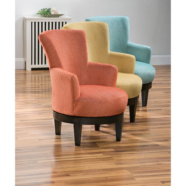 Justine Persimmon Swivel Chair