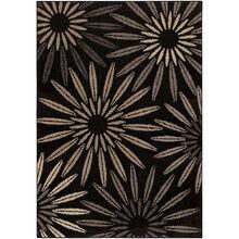 Heritage Halley Charcoal Black Bursts 8 x 11 Rug