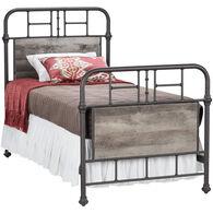 Gambrel Twin Metal Bed