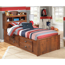 Barchan Brown Twin Captains Bed