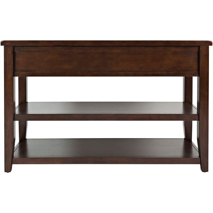 Phalen Arabica Dark Brown Console Table