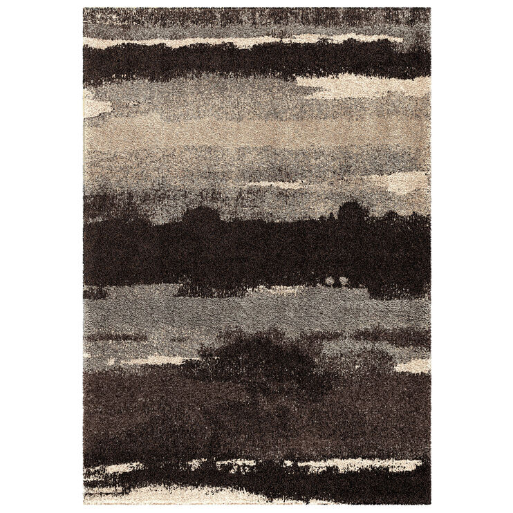 Wild Weave Canyon Slate Gray Abstract Stripes 8 x 11 Rug