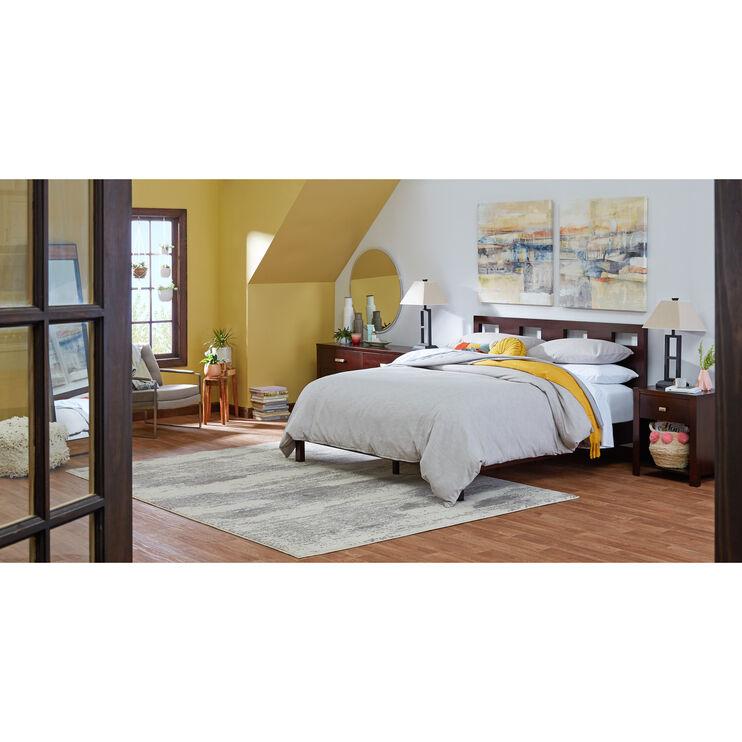 Riva Brown King Platform Bed