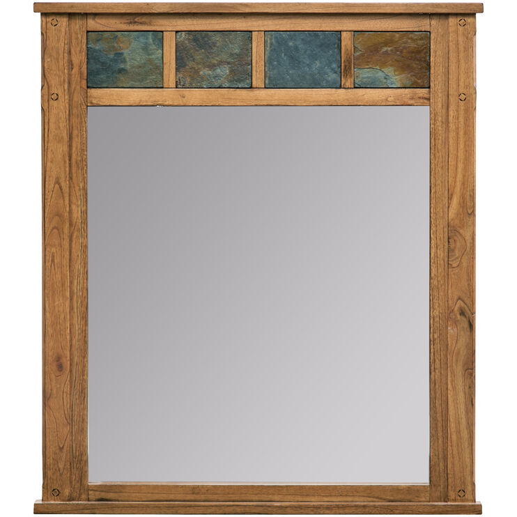 Sante Fe Rustic Oak Mirror