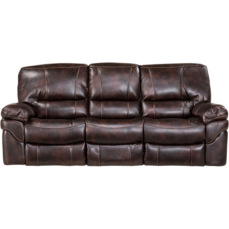 Slumberland Furniture Valdez Brown Reclining Sofa