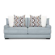 Wake Leather Aqua Sofa