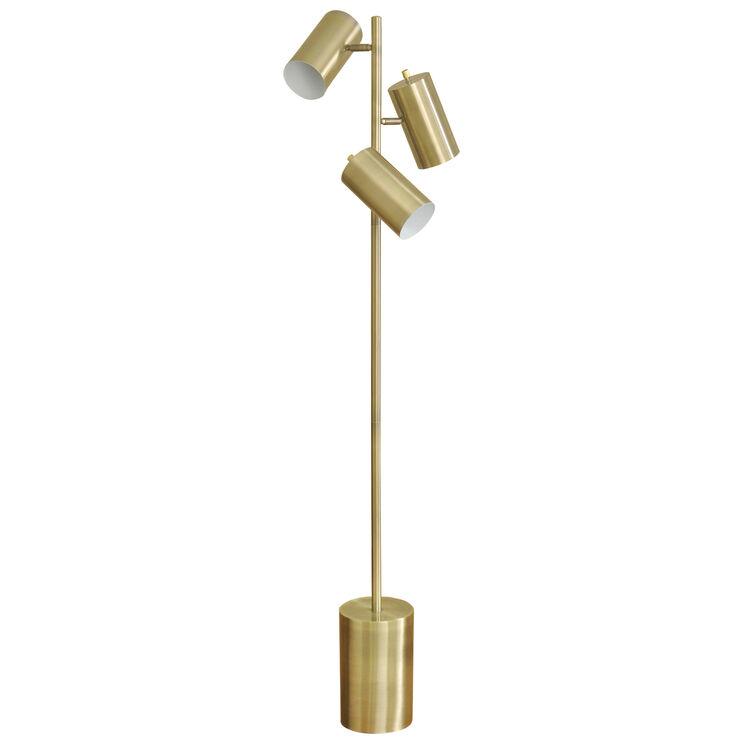 Bainsville Brass Adjustable Floor Lamp