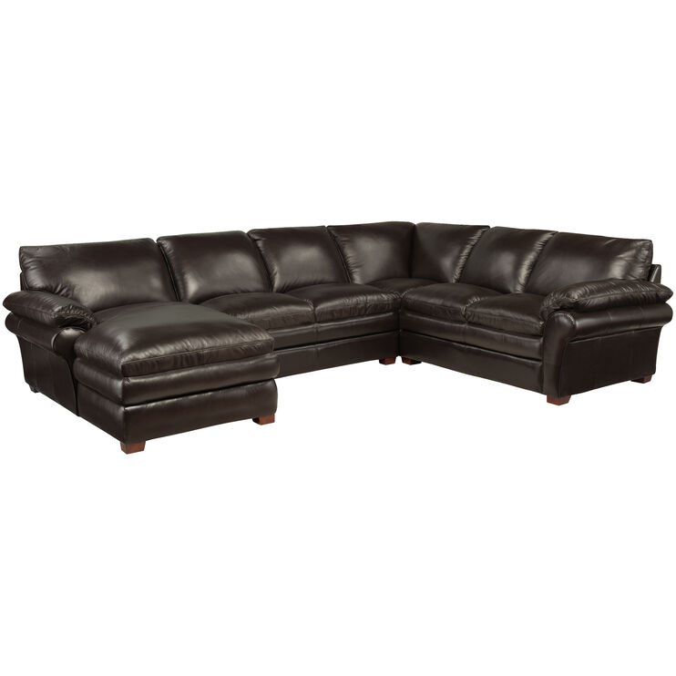 Moldova Brown Left Arm Chaise Sectl