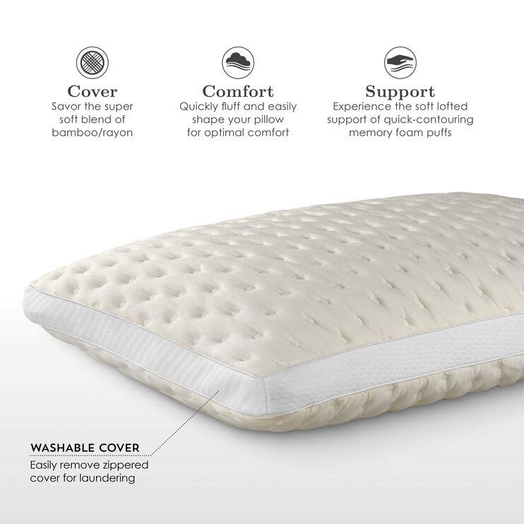 Fabrictech Beige Queen Bamboo Firm Pillow
