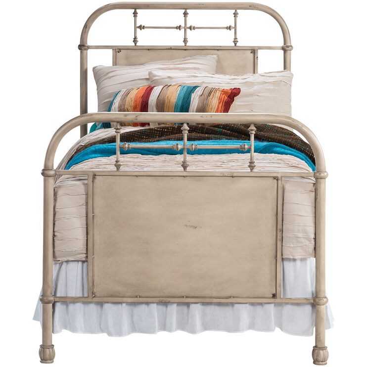 Vintage White Twin Bed