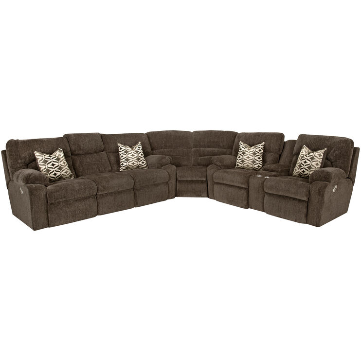 Nome 3 Piece Tiger Eye Power Plus Sectional