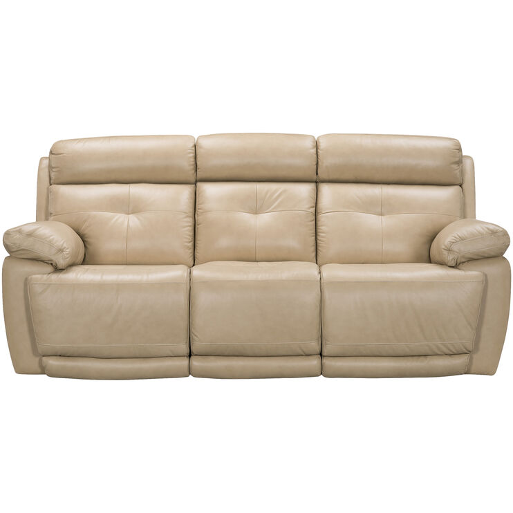 Rhodes Tan Power Reclining Sofa