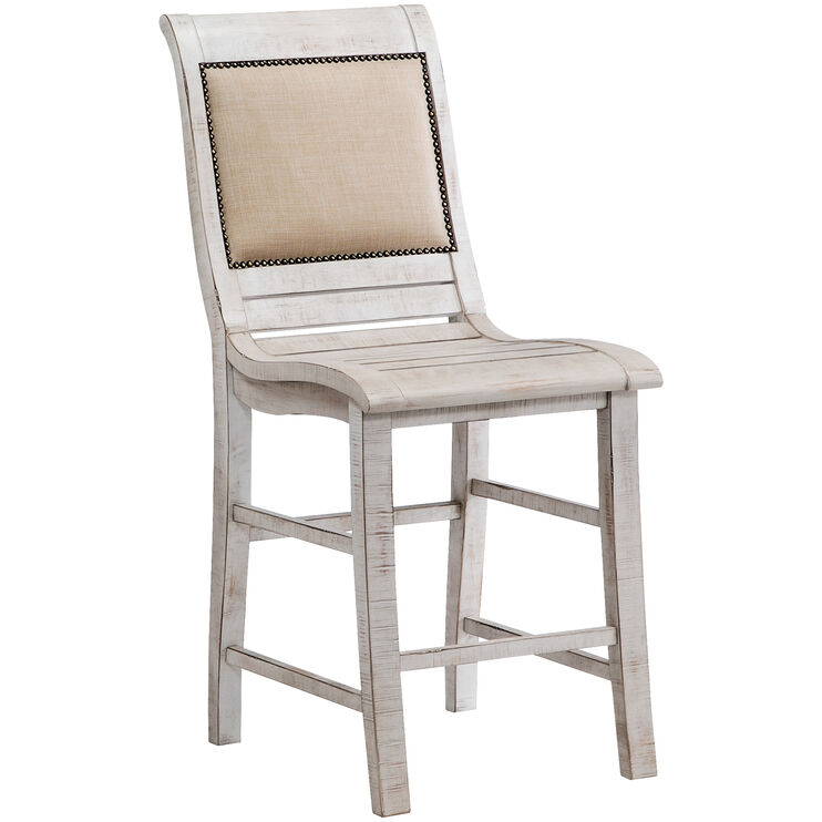 Willow White Counter Chair