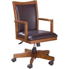 Cross Island Brown Arm Chair w/Swivel