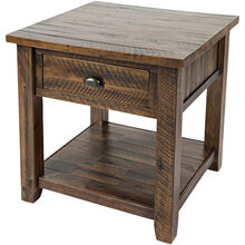 Artisans Craft Brown End Table