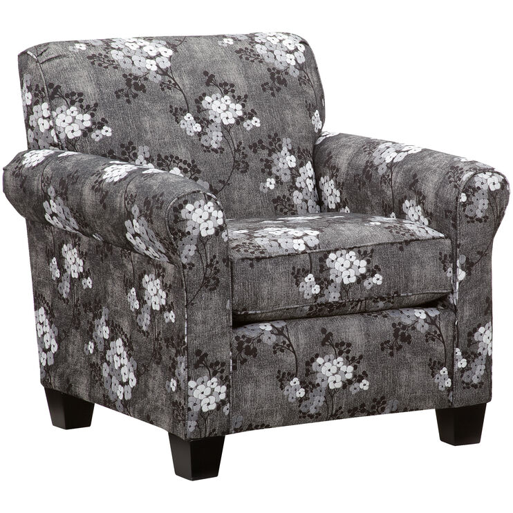 York Charcoal Chair