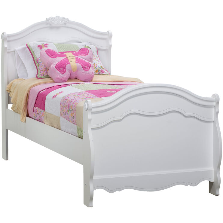 Exquisite White Twin Bed