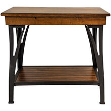District Cool Copper Chairside Table