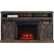 Farmhouse Barnwood Fireplace Console