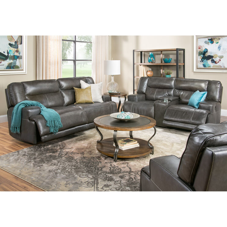Tompkins Gray Power Reclining Sofa