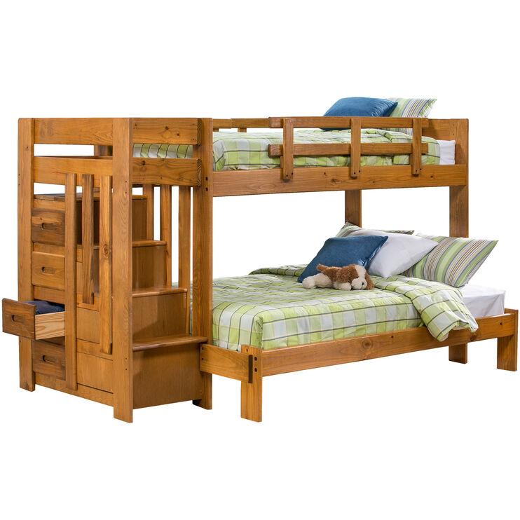 Slumberland Furniture Tanglewood Honey Tw Fl Stair Bunk