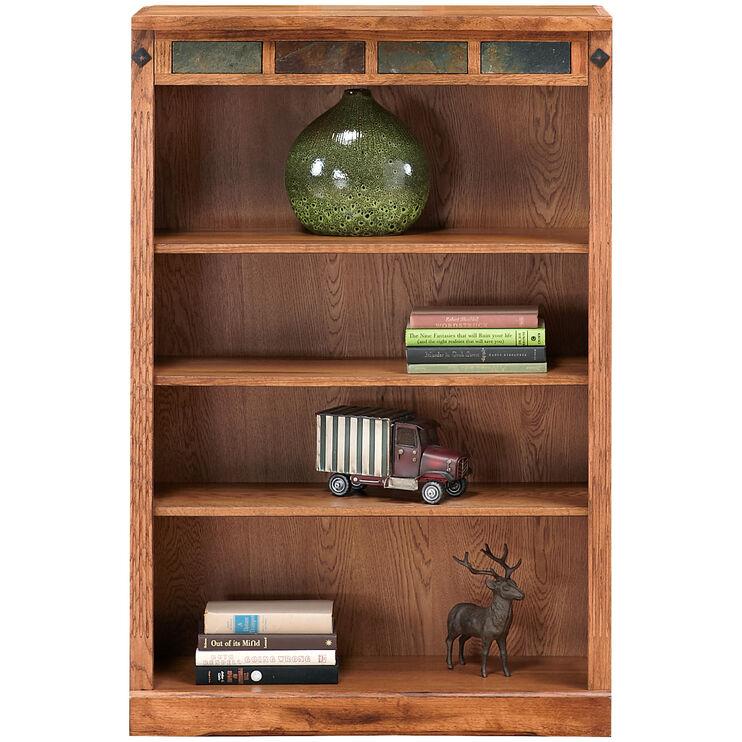 Slumberland Furniture Sante Fe 48 Inch Rustic Oak Bookcase
