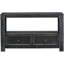 Gavelston Black Two Drawer Console Table