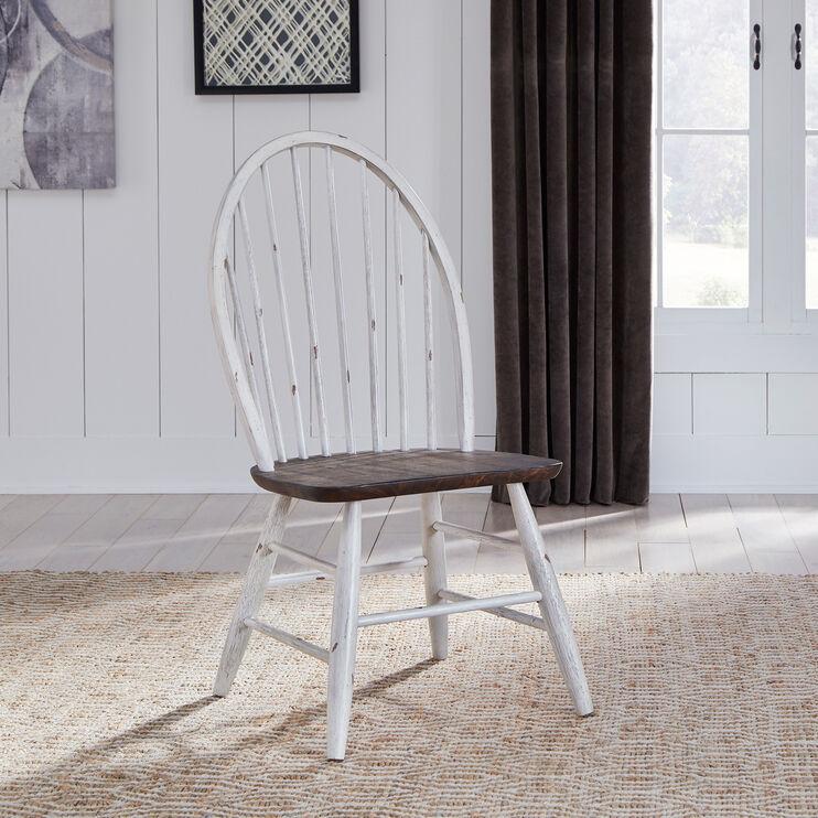 Farmhouse White Windsor Side Chair