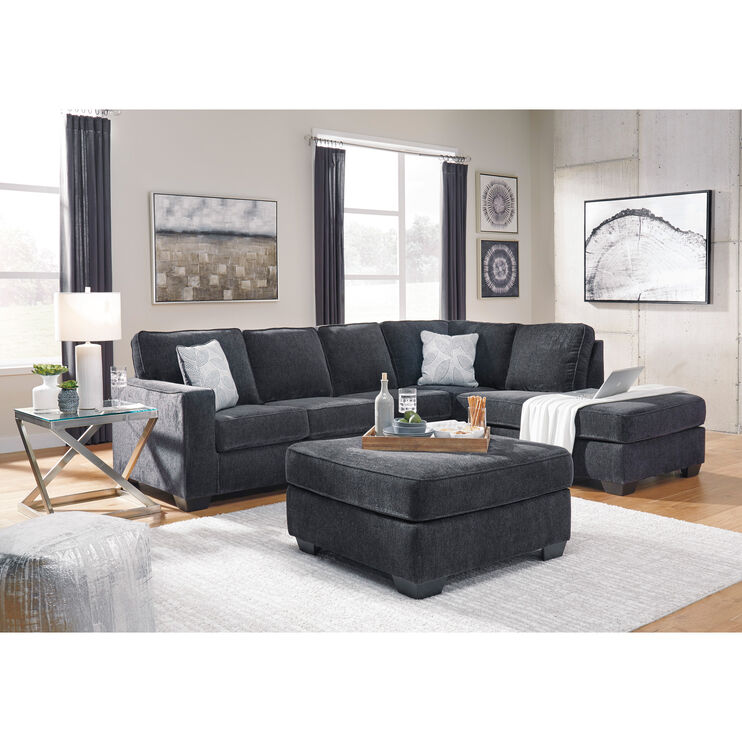 Riles Slate Right Chaise Sectional