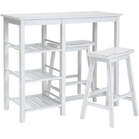 Breakfast Club 3 Piece Counter Dining Set