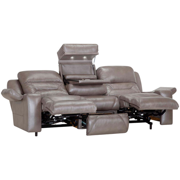 Stupendous Thomas Chrome Tri Power Reclining Sofa Slumberland Furniture Caraccident5 Cool Chair Designs And Ideas Caraccident5Info