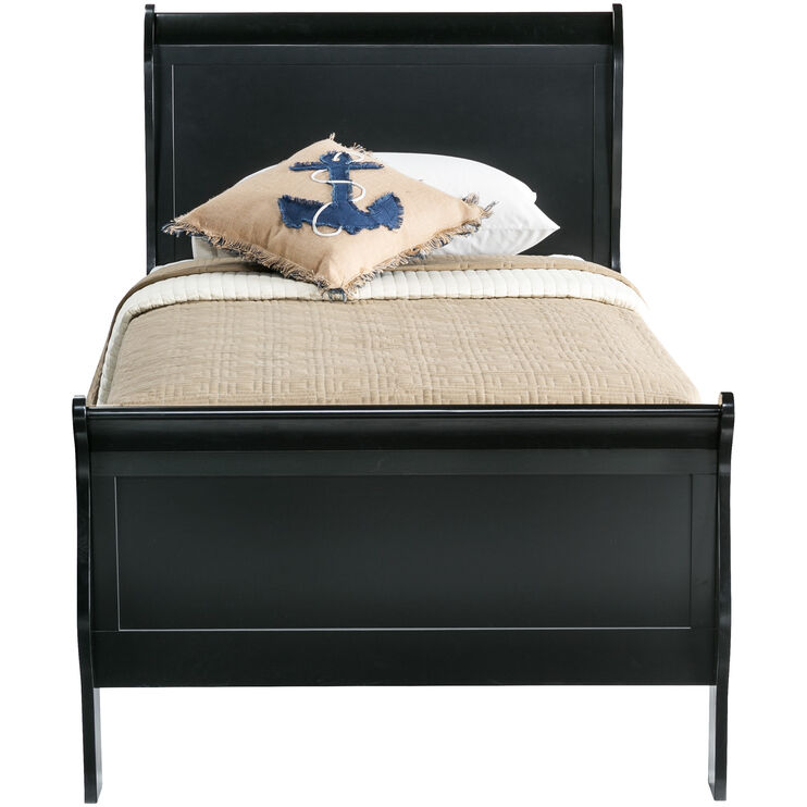 Yorkshire Black Twin Bed
