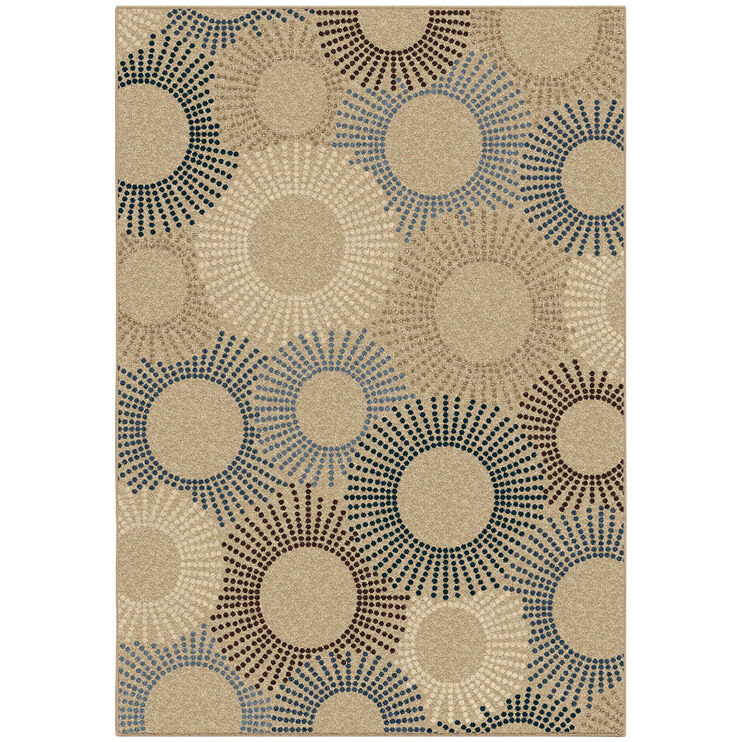 Four Seasons Ray Of Light Blue Spiral 5x8 Rug