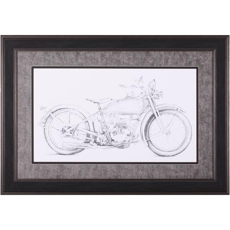 Motorcycle Sketch IV Wall Art