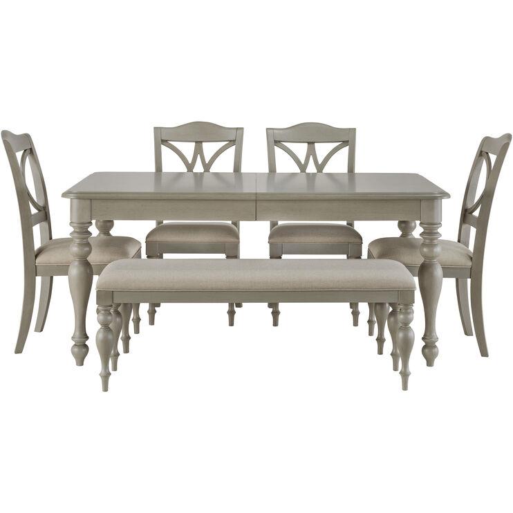 Summer House 5 Piece Gray Dining Set
