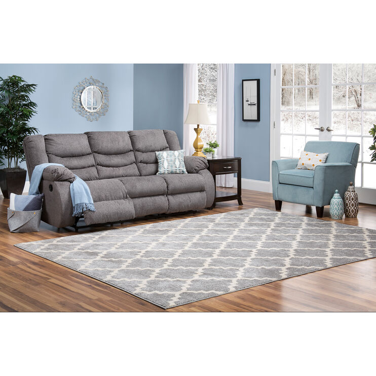 Kent Gray Reclining Sofa