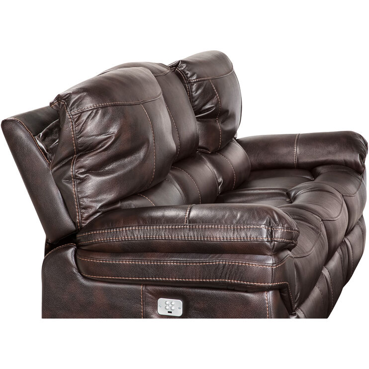 Valdez Brown Power+ Reclining Sofa