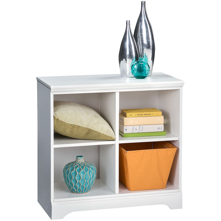 Lulu White Loft Bookcase