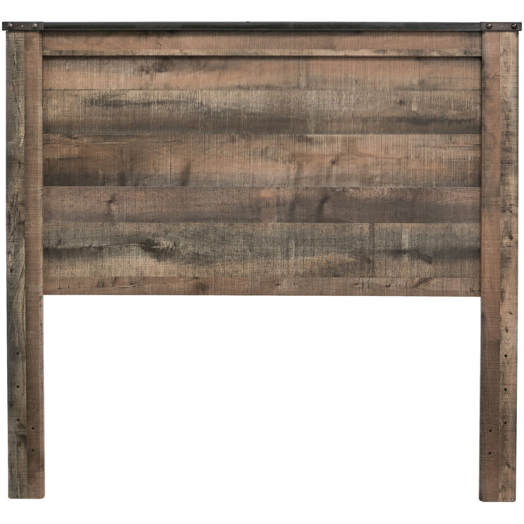 Trinell Rustic Plank Full Panel Headboard