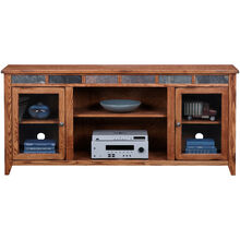 Evanston Antique Oak 72 Inch Hiboy Console