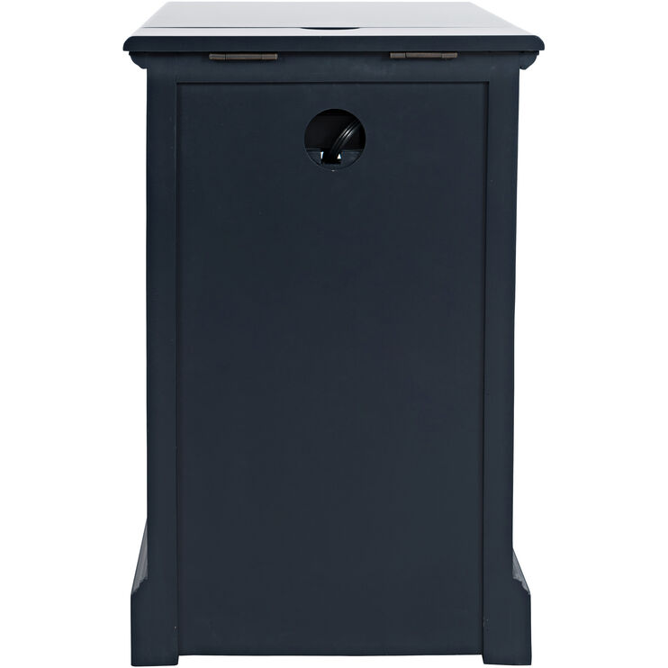 Chilton Navy Chairside Table