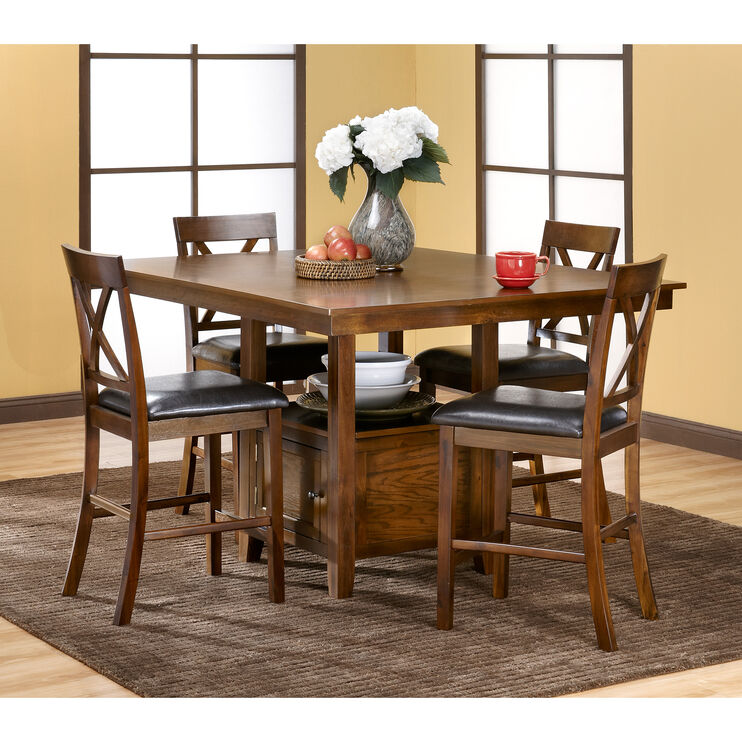 Woodwyn 5Pc Med Oak Counter Set