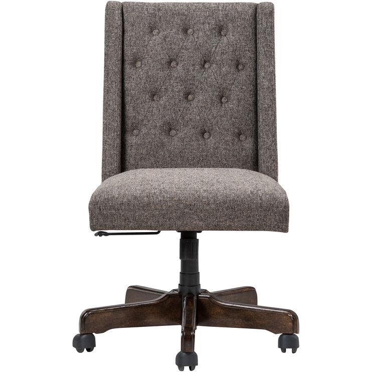 Hudson Taupe Parson Desk Chair